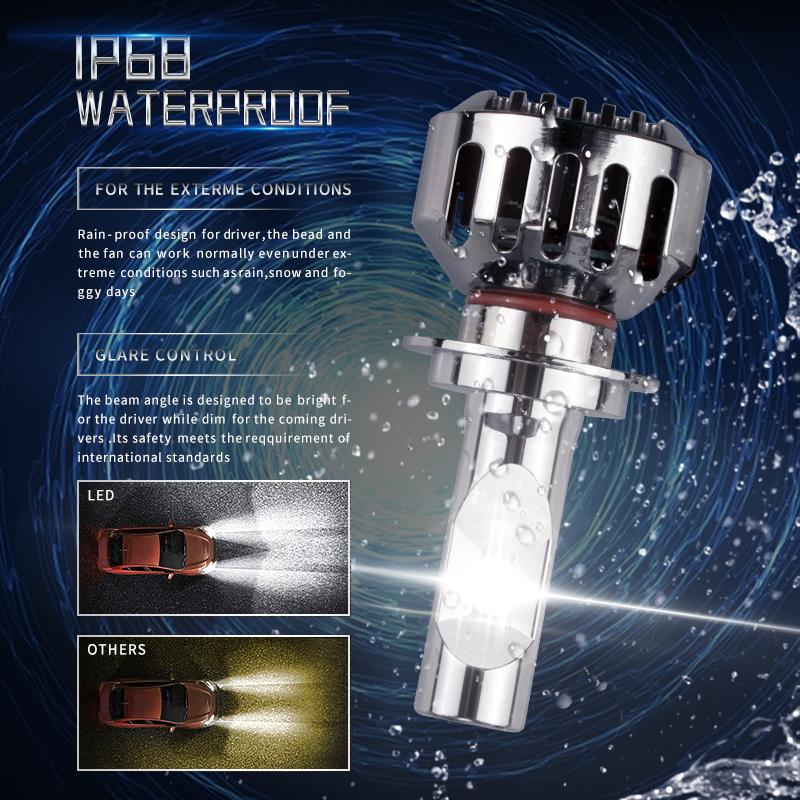 Bombillo Led H4 de 8.000 Lumens - Cambio de luces